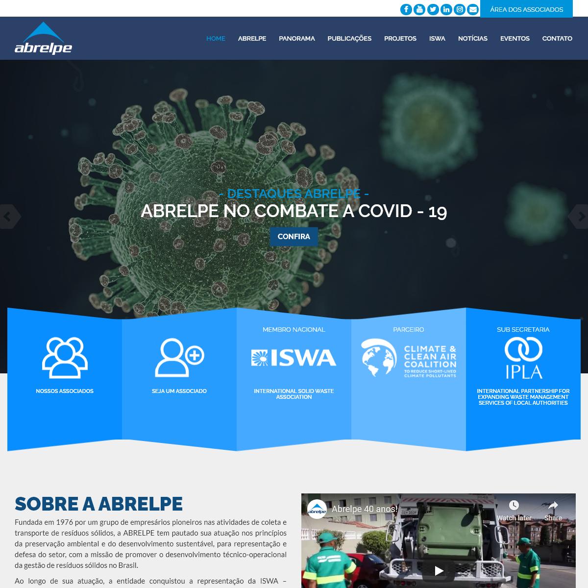 Abrelpe – Associação Brasileira de Empresas de Limpeza Pública e Resíduos Especiais