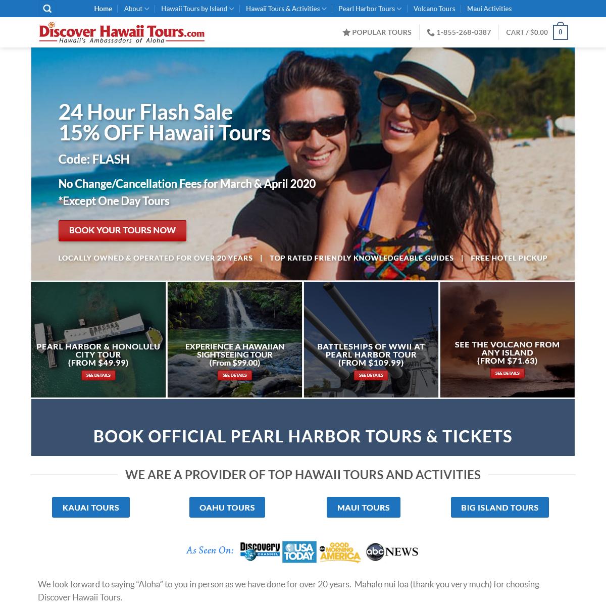 Hawaii Tours & Activities Site in Oahu, Maui, Kauai, Big Island & Pearl Harbor