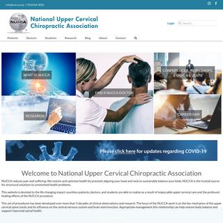 National Upper Cervical Chiropractic Association - NUCCA