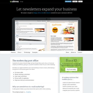 Newsletter software for email marketing - Ubivox