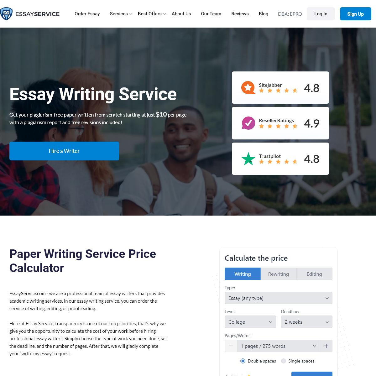 Essay Writing Service. Hire a Best Essay Writer Online!