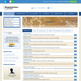 Science Journals - Authors Scientific Papers