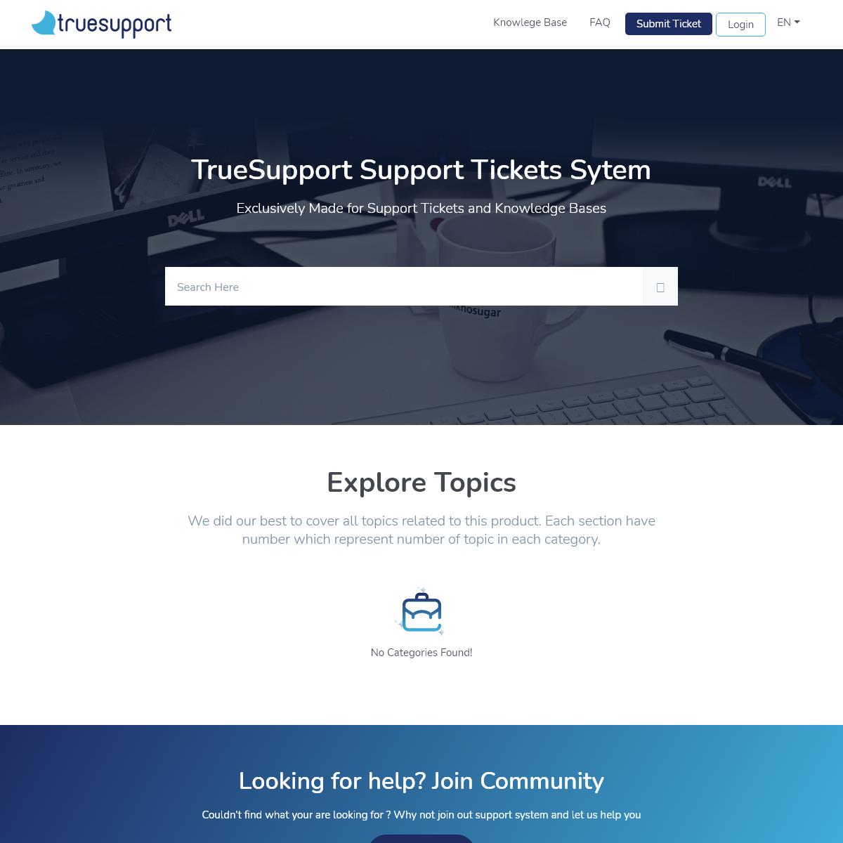 Home - TrueSupport