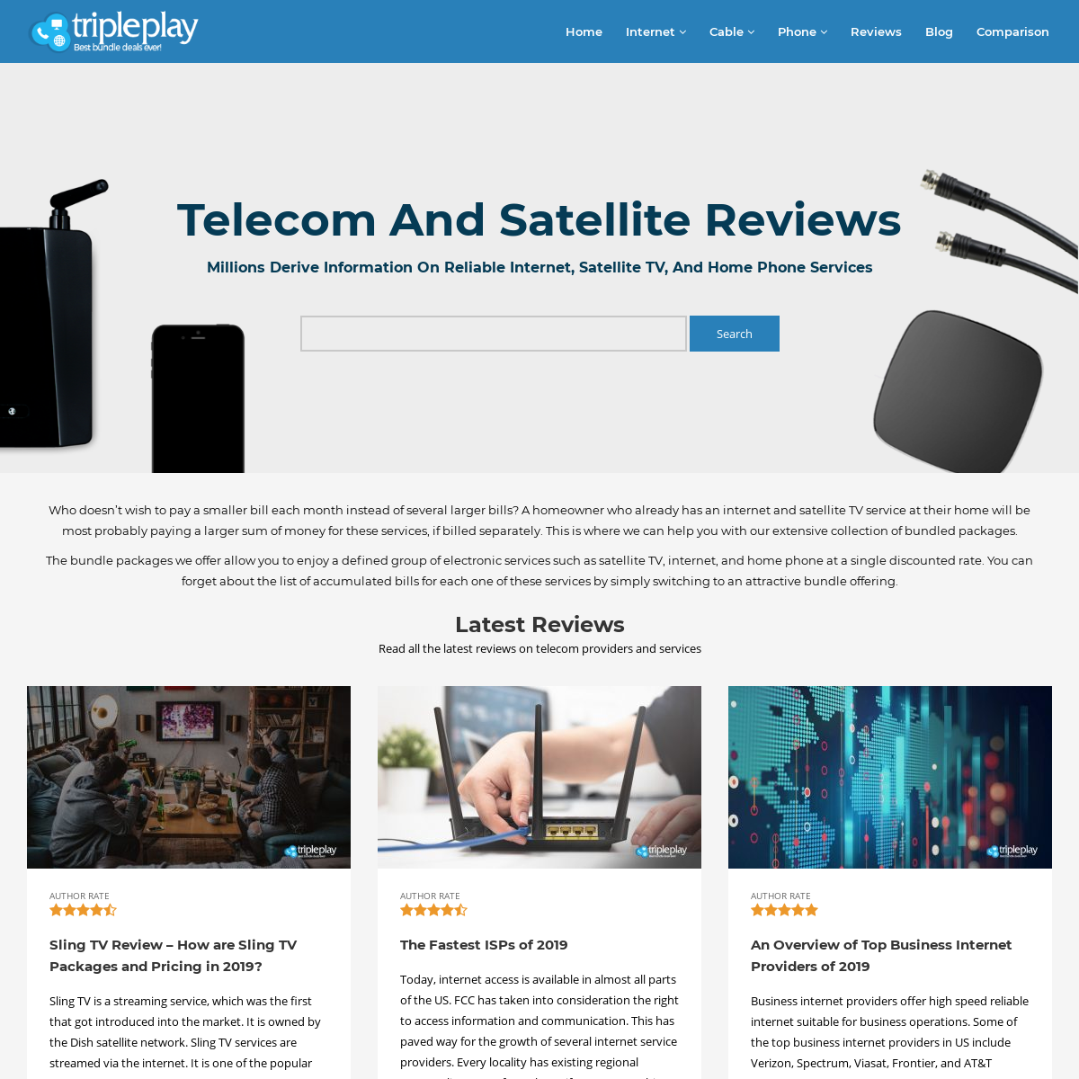 Find the Best Internet Service Providers, Wireless & Cable TV Companies - The Triple Play