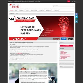 COMM-TEC - your prime partner for professional AV solutions