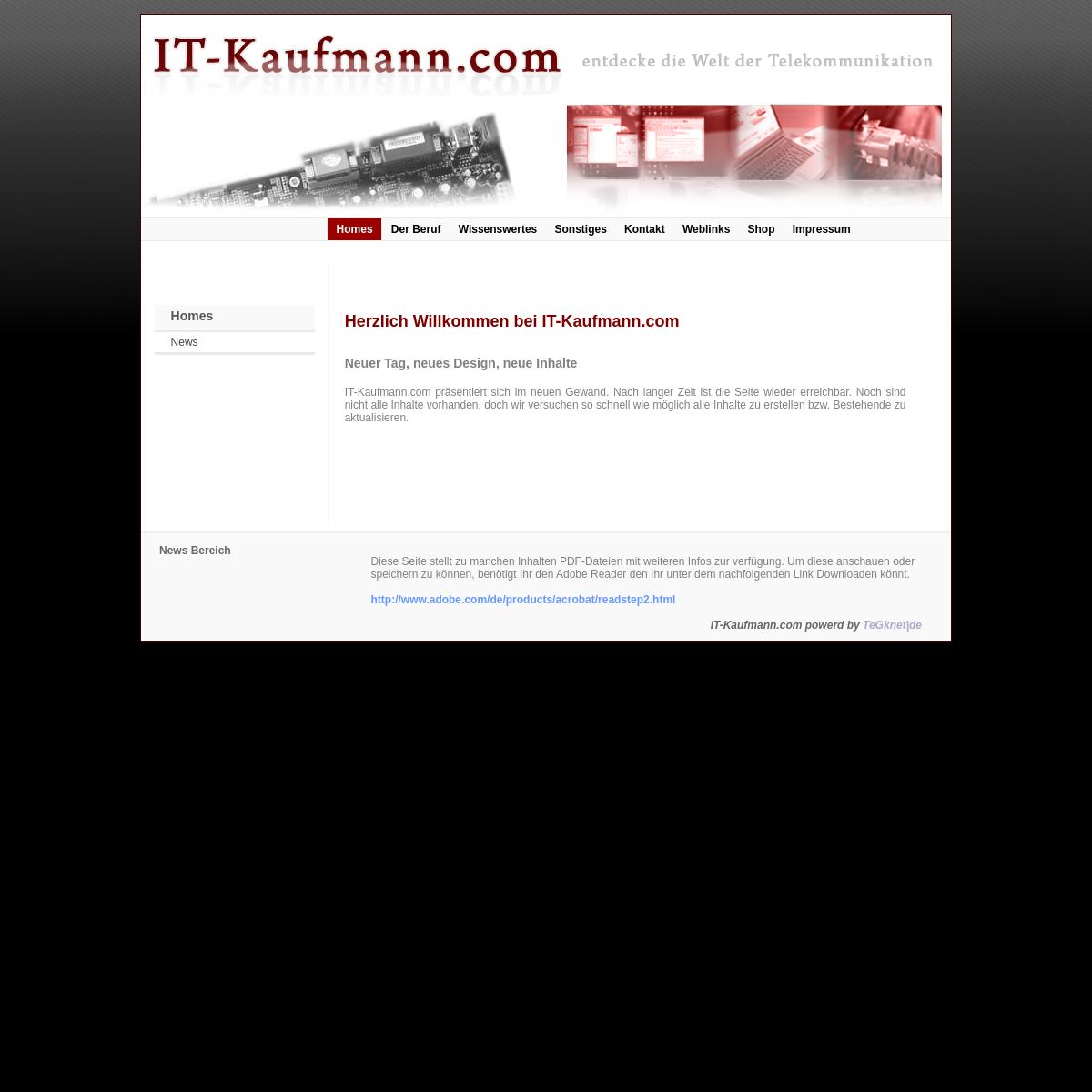 IT-Kaufmann.com - entdecke die Welt der Telekommunikation