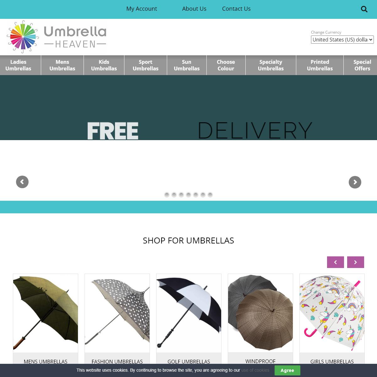 Shop for umbrellas at the number 1 umbrella shop!