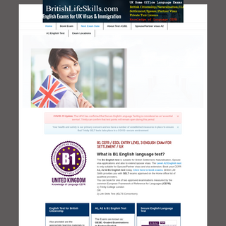 B1 English test CEFR SELT B1 English test centre - B1 English test CEFR SELT 2018
