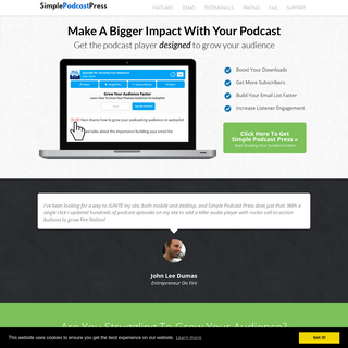 WordPress Podcast Player Designed To Grow Your Audience - Simple Podcast Press — Simple Press Plugins