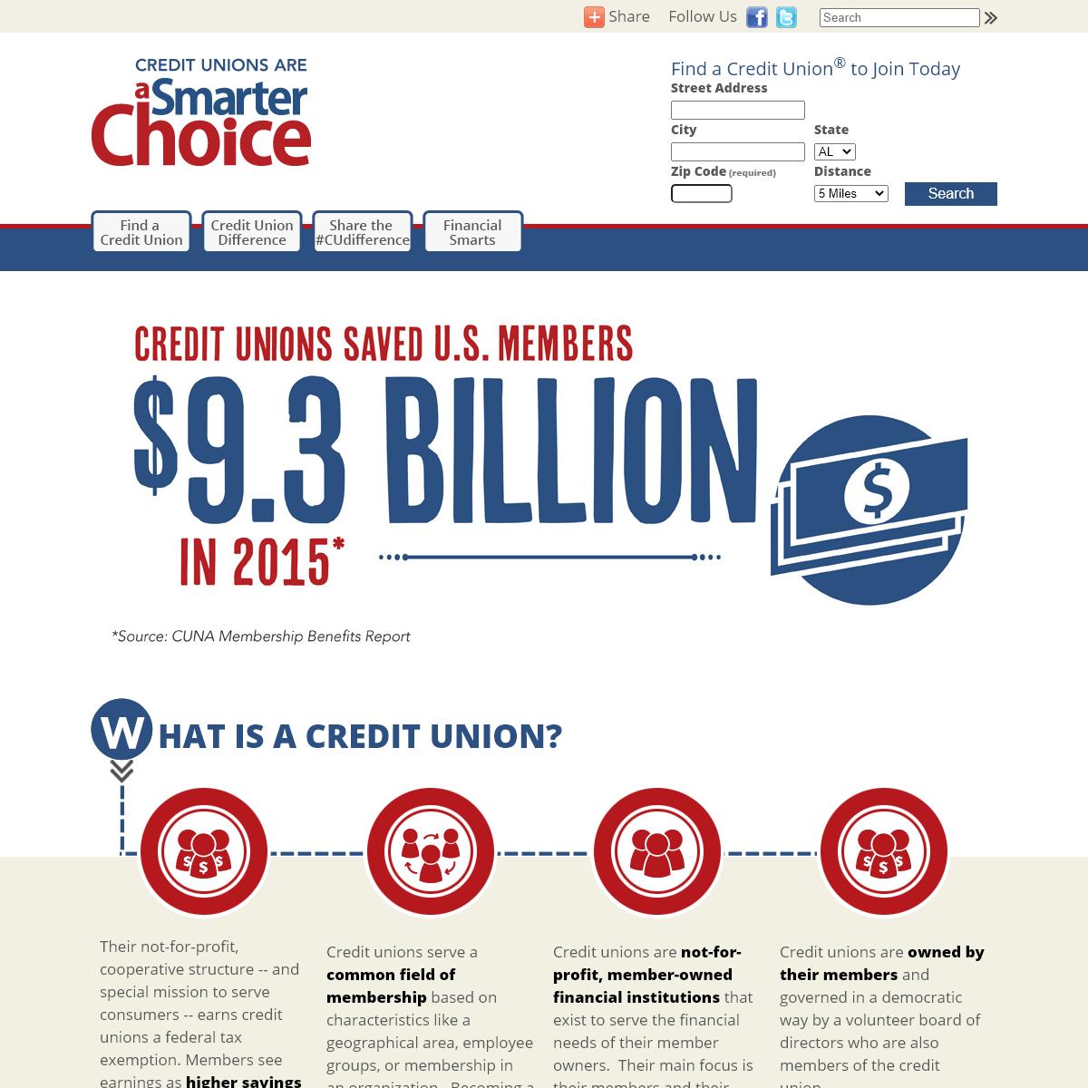 aSmarterChoice Credit Union Finder - aSmarterChoice Site