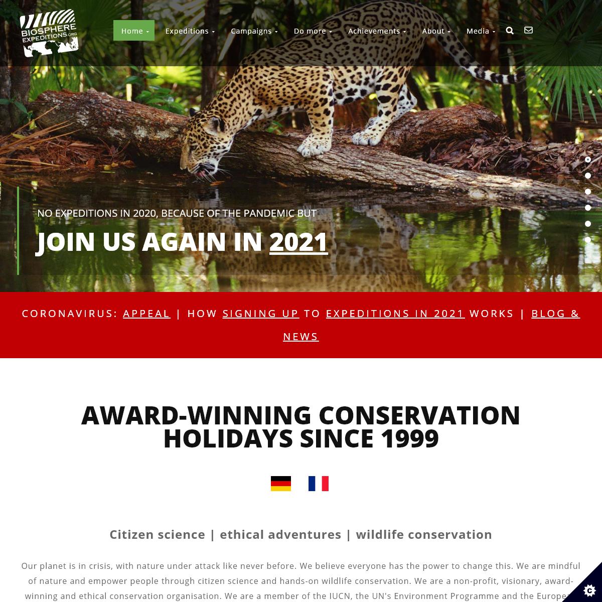 Wildlife conservation volunteer holidays - Biosphere Expeditions