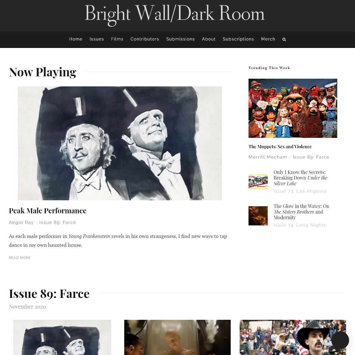 Bright Wall-Dark Room