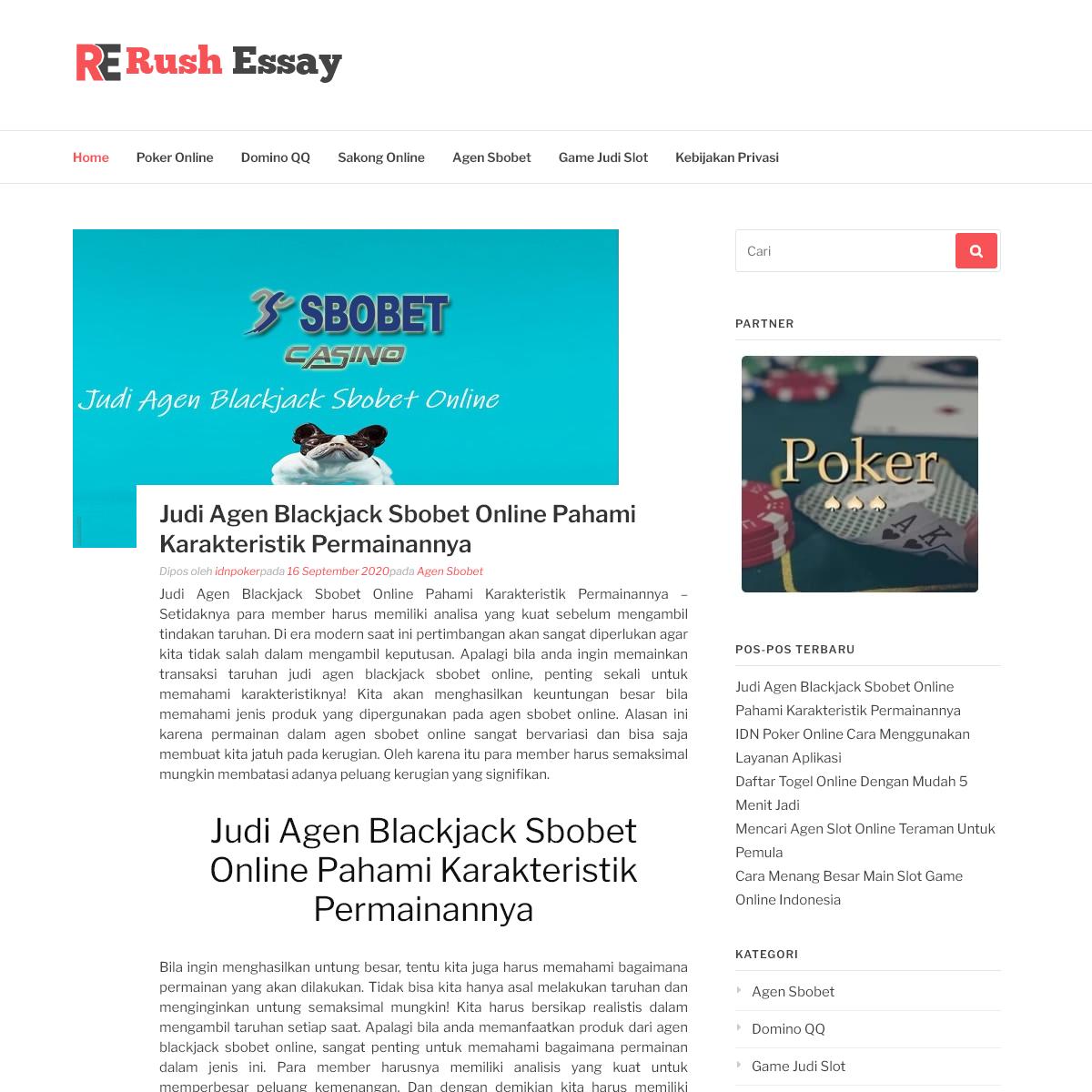 Agen Judi IDN Poker Online Terbaru Di Indonesia Deposit Murah