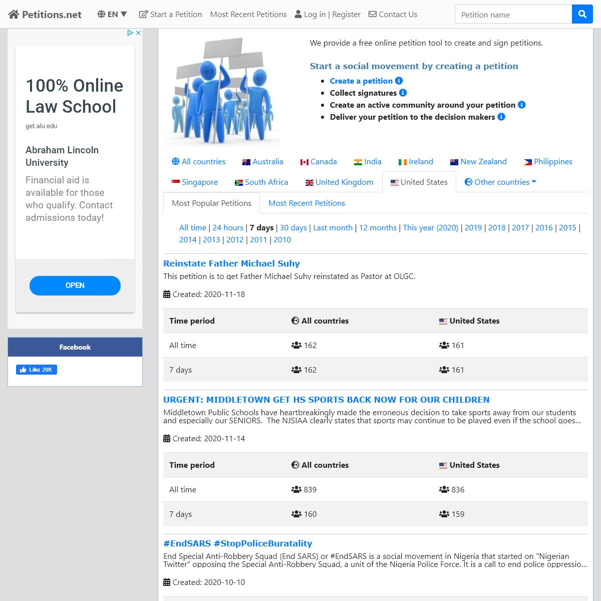 Online Petition Maker - Petitions.net