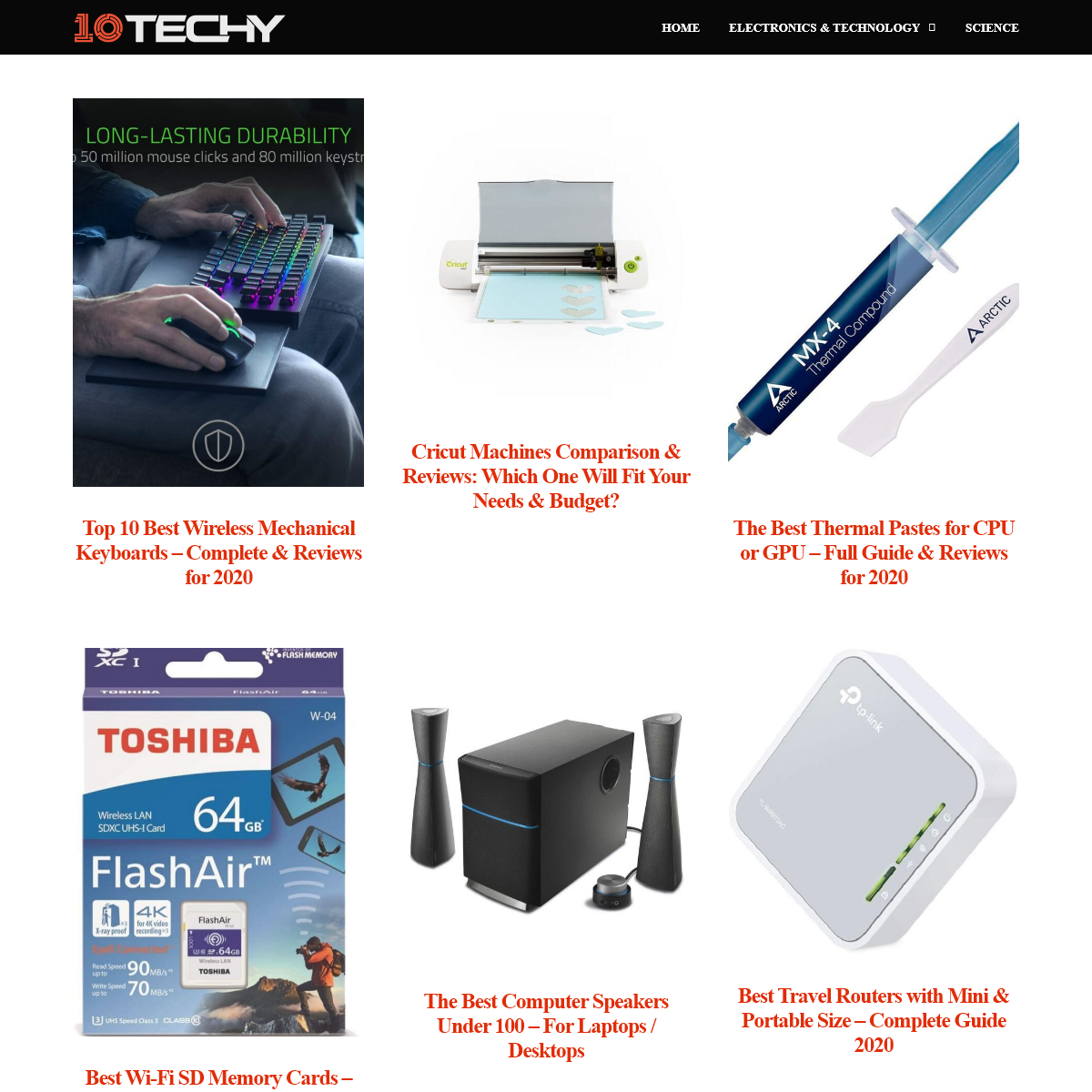10Techy - Top Ten Techs, Products and Reviews
