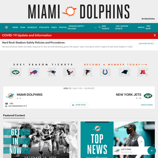 Dolphins Home - Miami Dolphins - dolphins.com
