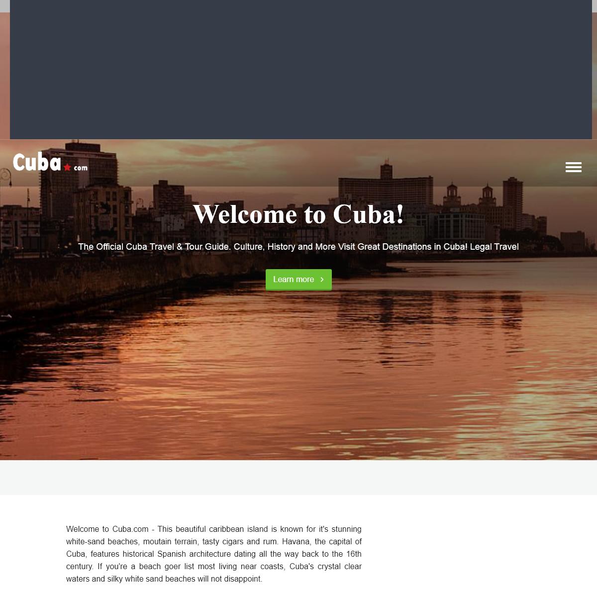 Cuba Travel & Tour Guide - Cuba.com