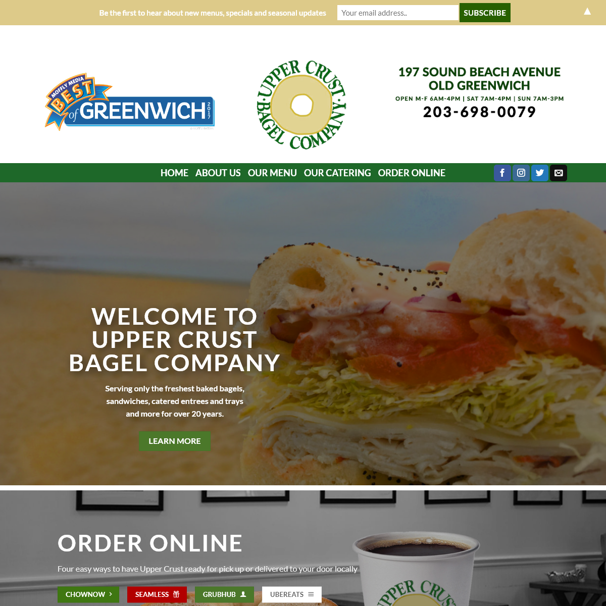 Upper Crust Bagel Company – Serving Only the Freshest for over 20 years