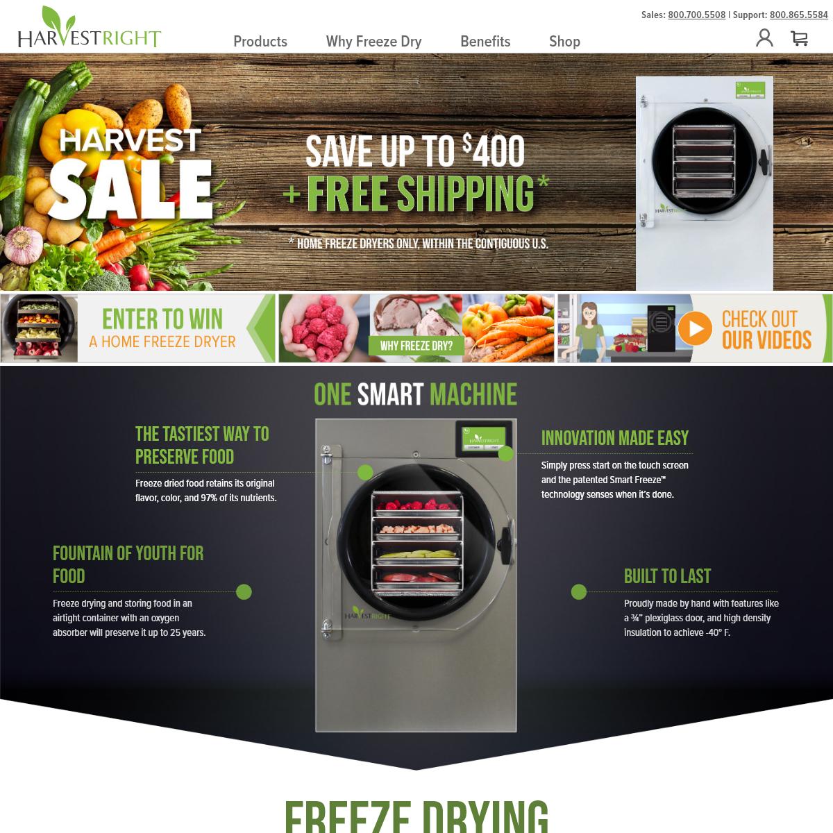 Harvest Right - Freeze Dryers - Freeze Dried Food Storage
