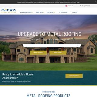 DECRA Metal Roofing - #1 Stone-Coated Steel Metal Roofing