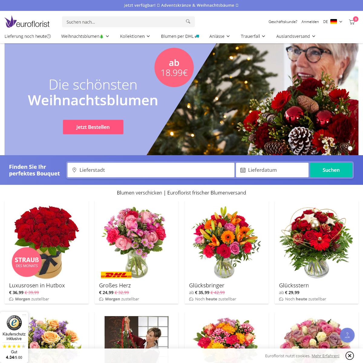 Blumen verschicken - Euroflorist frischer Blumenversand