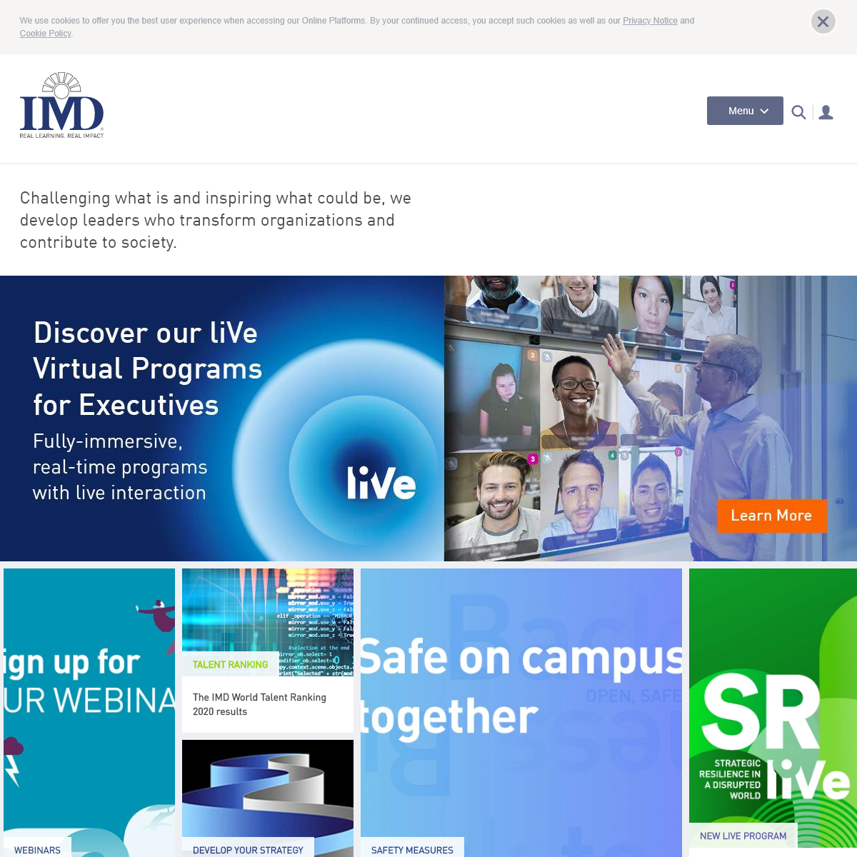IMD business school for management and leadership courses