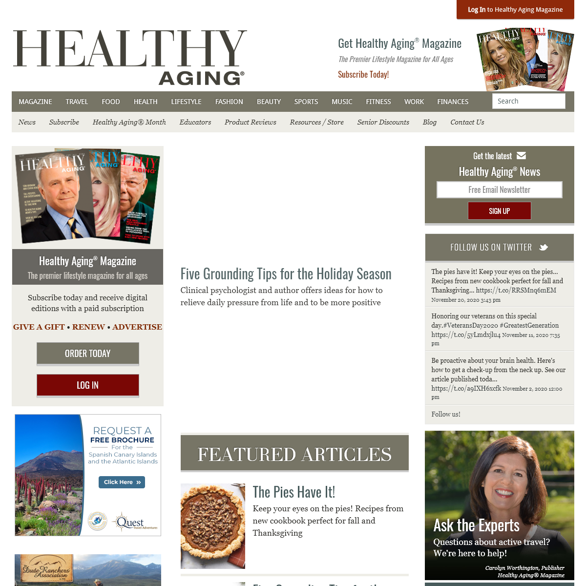 Healthy Aging®. Healthy Aging is The Premier Lifestyle Website for All Ages