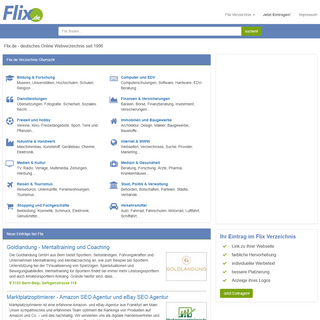 Flix - deutsches Online Verzeichnis seit 1996
