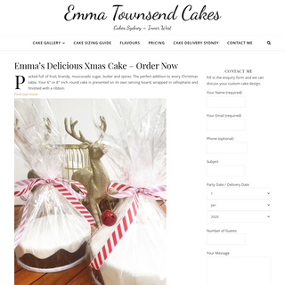 Emma Townsend Cakes - Custom Cakes Sydney and Inner West