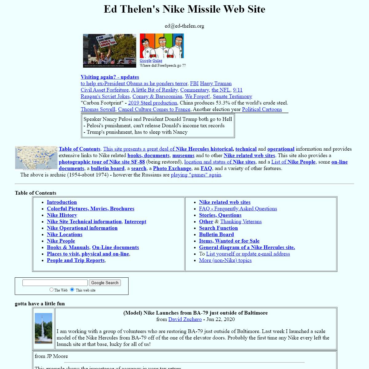 Ed`s Nike Missile Web Site