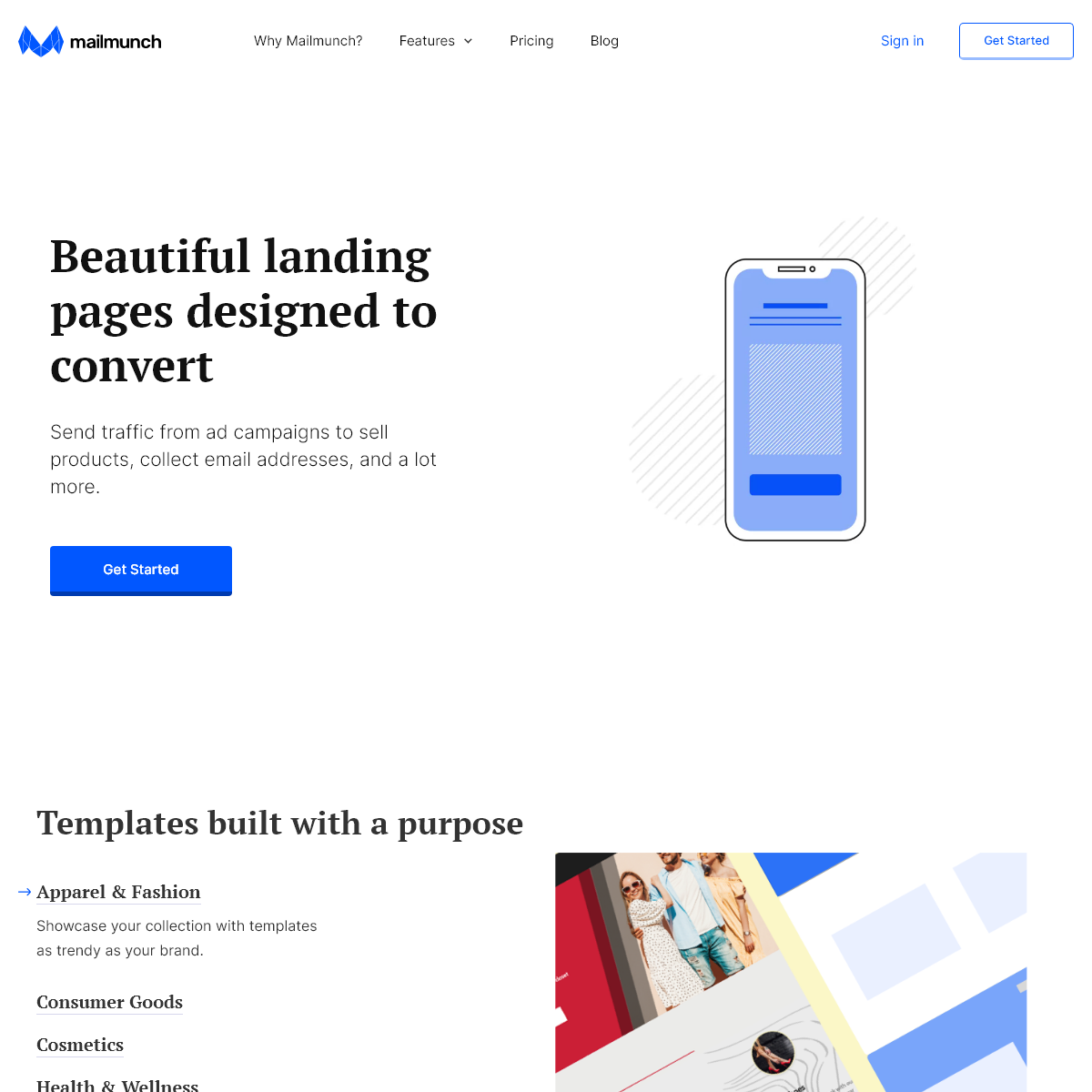 Free Landing Page Builder- Create Free Landing Pages with Mailmunch