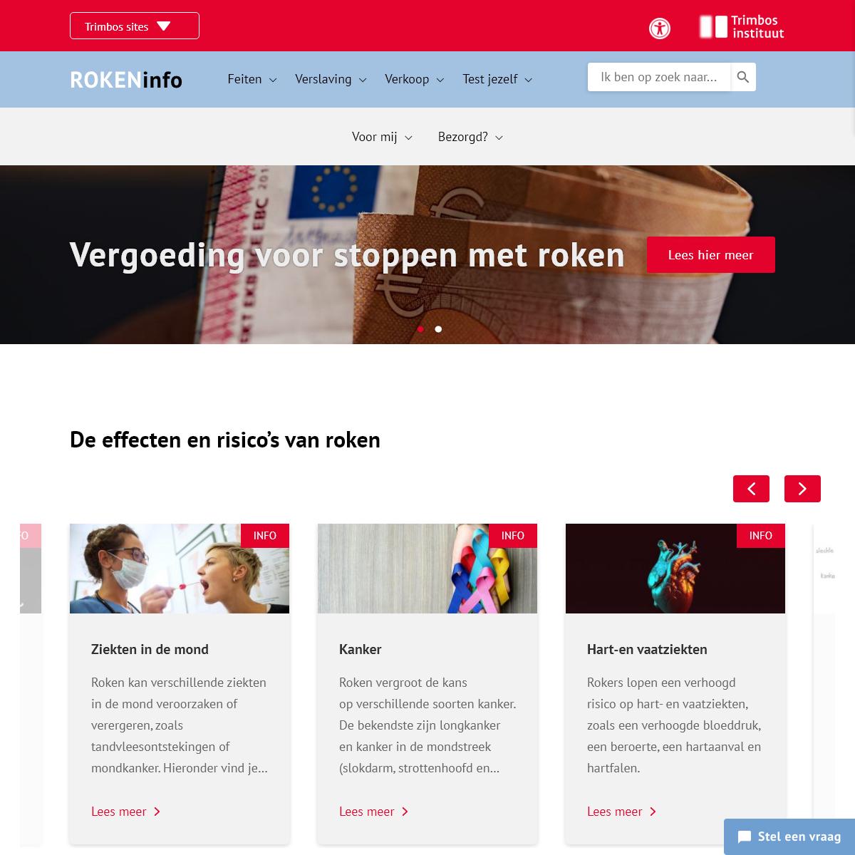 Homepage - Info over roken - Efecten - Risico`s en feiten - ROKENinfo.nl