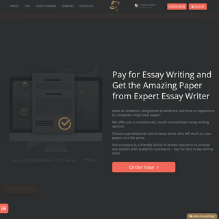 Pay for Essay Writer Online from $12-page