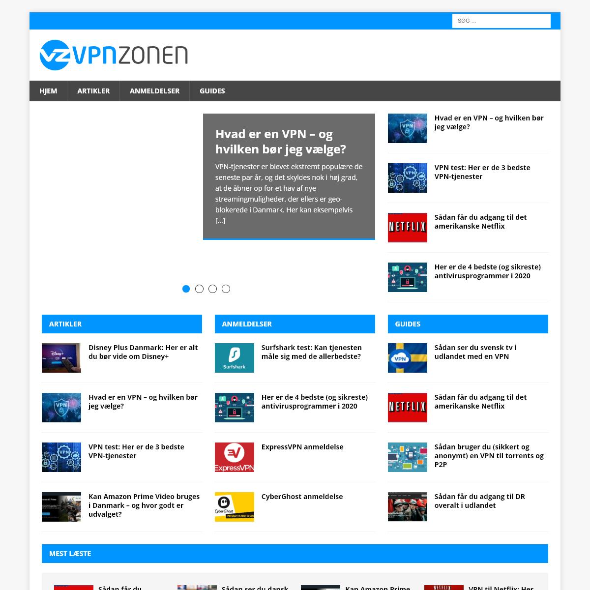 VPNzonen.dk - VPN nyheder, anmeldelser og guides