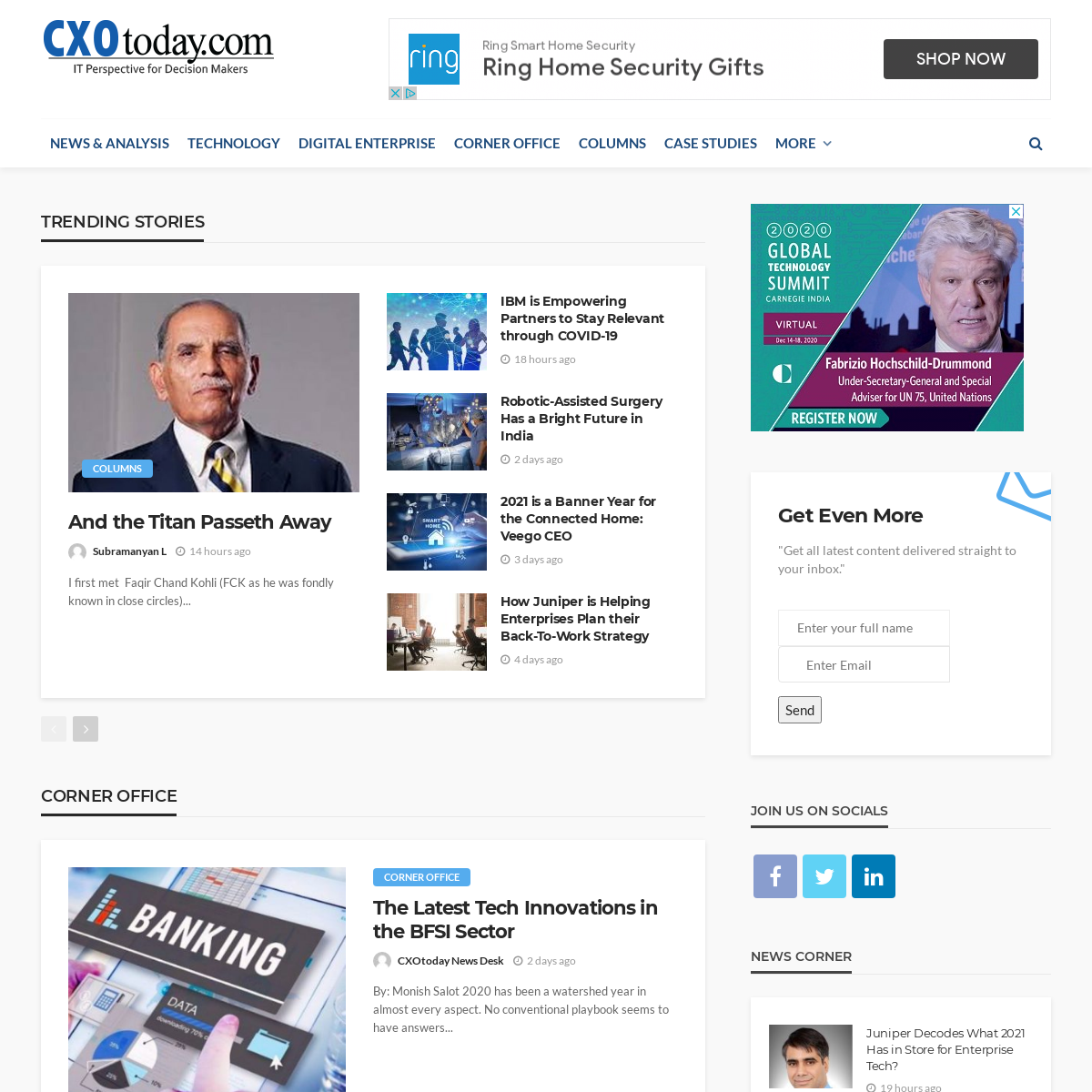 Technology News, Business Technology News, Information Technology News, Tech News India - CXOToday.com