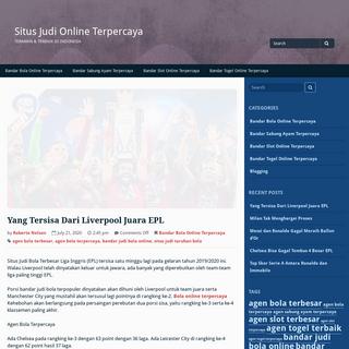 Situs Judi Online Terpercaya - Teraman & Terbaik Di Indonesia