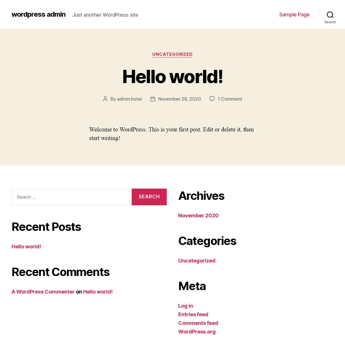 wordpress admin – Just another WordPress site