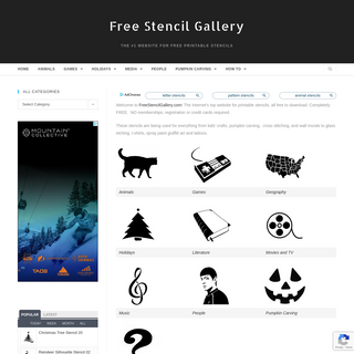 Free Stencil Gallery - The #1 Website for Free Printable Stencils