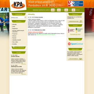 Aktuality - Klub přátel atletiky Pardubice