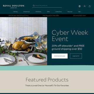 Royal Doulton® USA - Dinnerware, Serveware, Glassware & Gifts