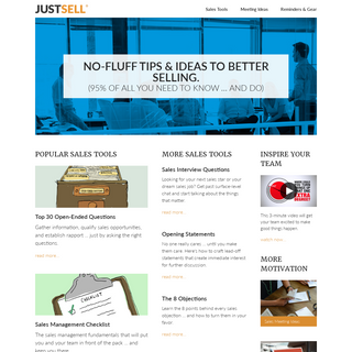 JustSell - It`s All About Sales®