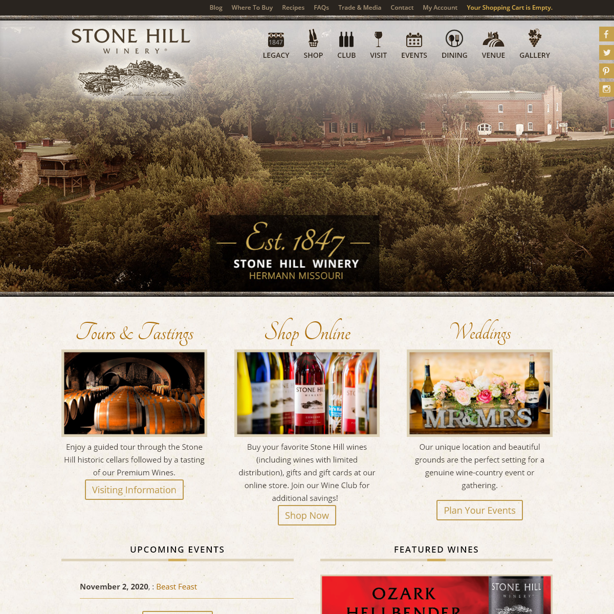 Winery - Restaurant - Hermann MO