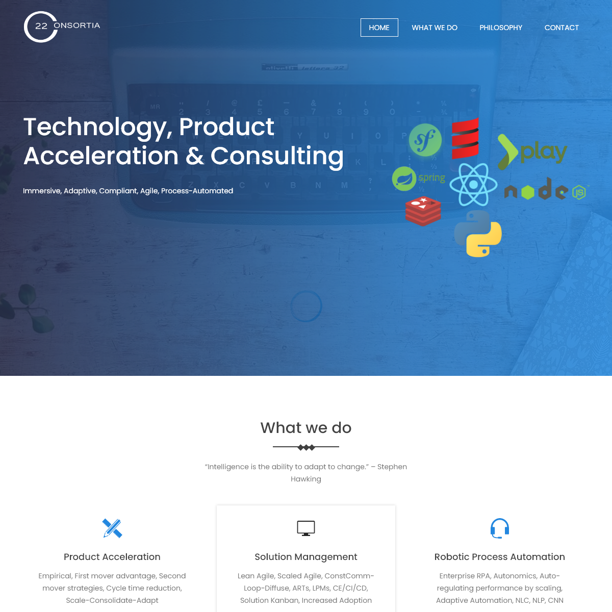 Consortia22 - Technology, Consulting, Product Acceleration