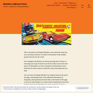 - Matchbox Collectors Forum