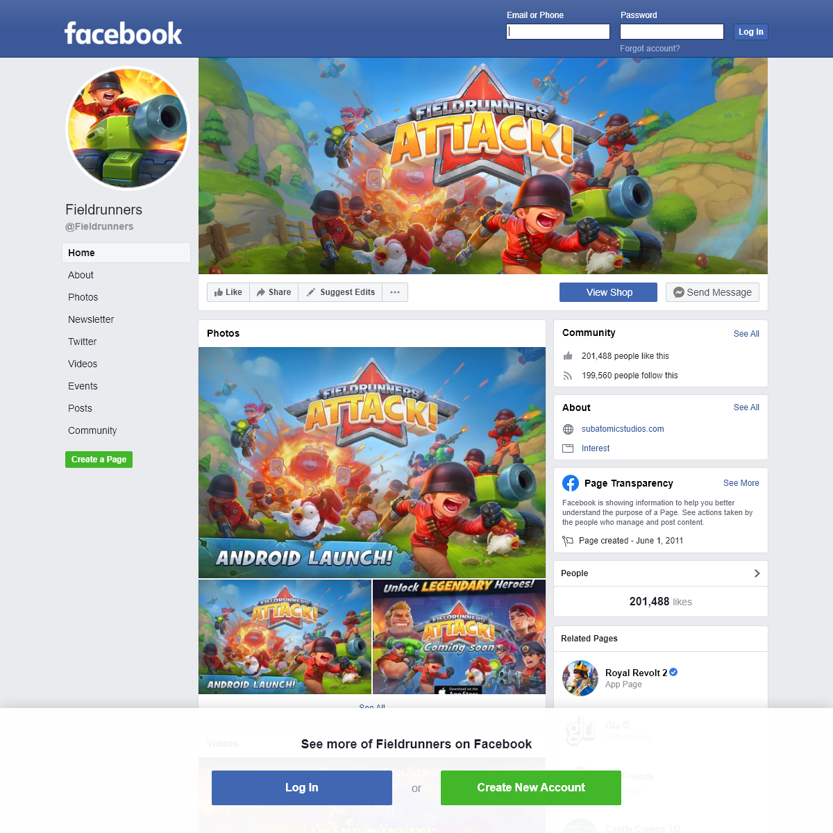 Fieldrunners - Home - Facebook