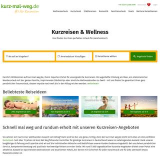 Kurzreisen & Wellness bei der Nr. 1 - Kurz-mal-weg.de