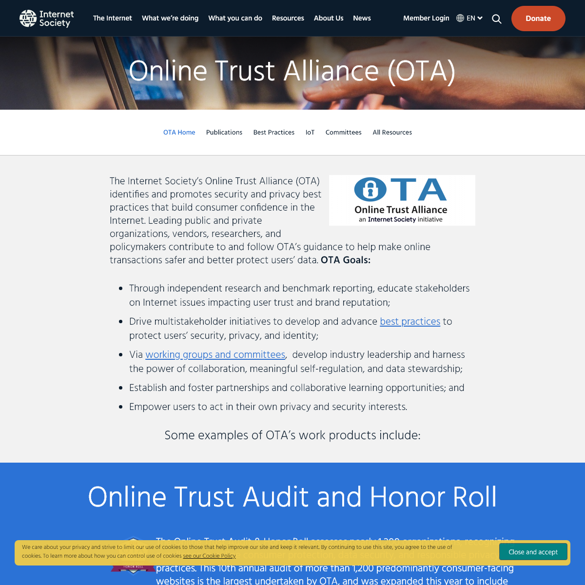Online Trust Alliance (OTA) - Internet Society