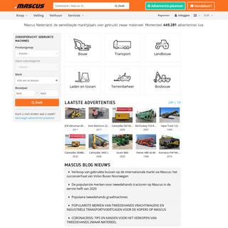 Mascus - marktplaats voor traktoren, vrachtwagens en meer