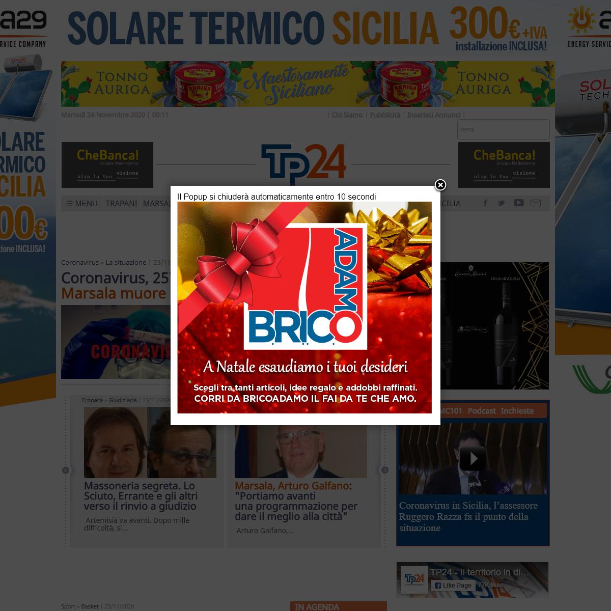 Tp24.it ,le notizie di Trapani, Marsala, Mazara, Alcamo e Belice