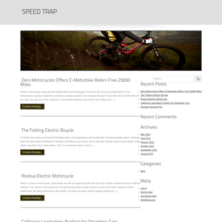 Speed Trap- Cars & Vehicles